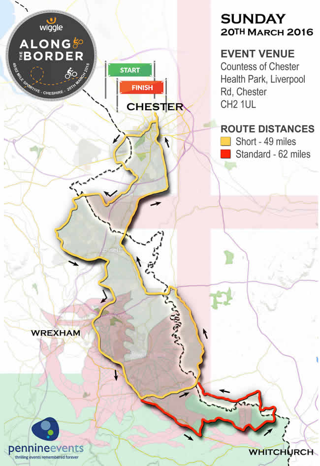 Wiggle Along the Border Map 2016