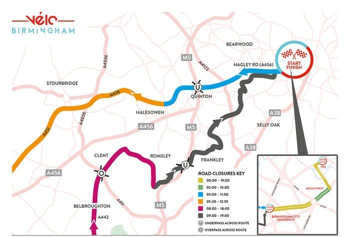 Velo Birmingham Route Map Section 1