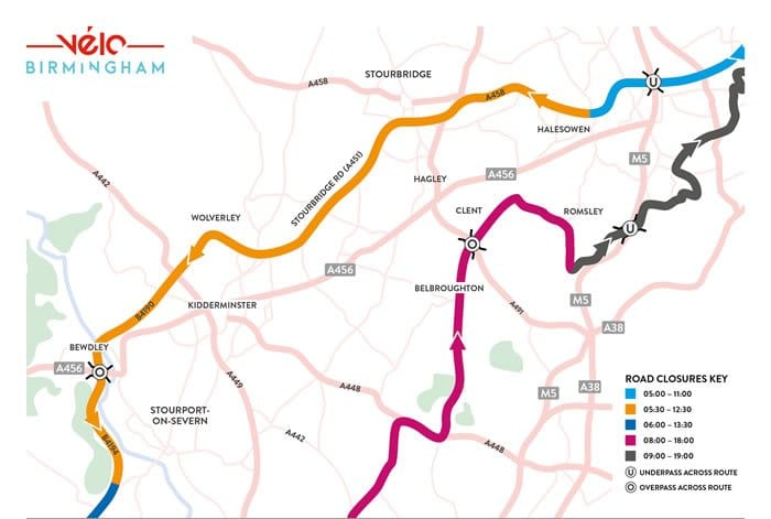 Velo Birmingham Route Map Section 2