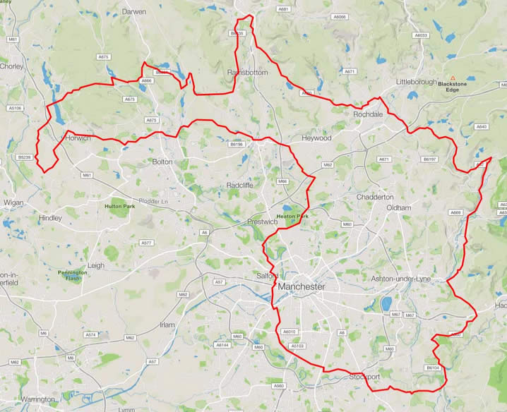Tour de Manc Route Map
