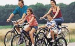 Image of Family Cycling