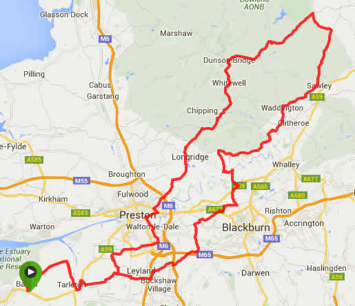 Ride of the Roses Sportive Route Map