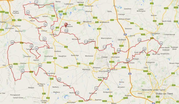 CW125 Cycling Weekly Sportive 125m Route