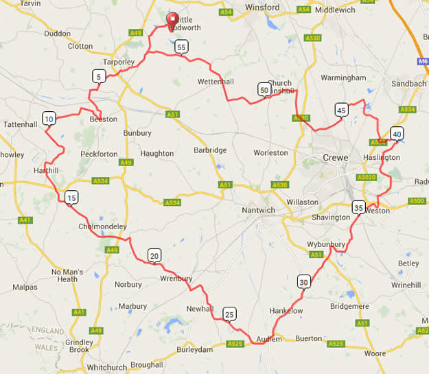 CW125 Cycling Weekly Sportive 60m Route