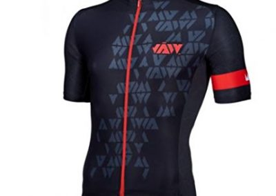 JAW Crystal Mens Jersey in Black/Red